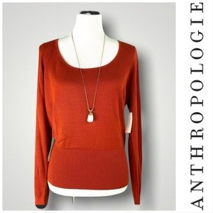 ANTHROPOLOGIE | NWT KNIT SCOOP NECK SWEATER